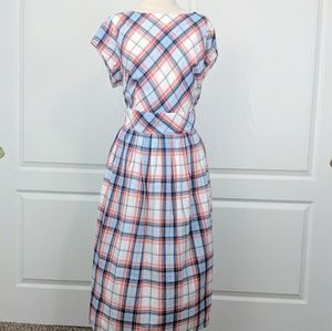 Eshakti Plaid Retro Midi Dress 3X